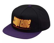 Supreme Underline 5-Panel Hat  Black In Hand