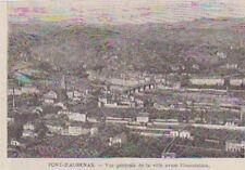1890  --  PONT D AUBENAS  VUE DE LA VILLE AVANT INONDATION  3A978