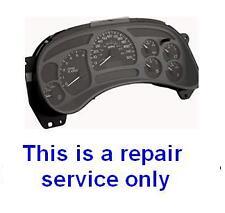 2003 2004 2005 2006 Chevrolet Trailblazer Gauge Cluster Dashboard Repair Service