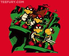 TEENAGE MUTANT NINJA TURTLES+Super Mario Bros TEEFURY T-Shirt TMNT Tee Wii RARE!