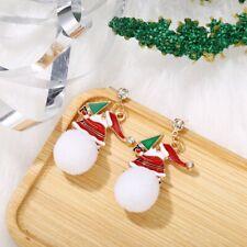Rhinestone Santa Claus Christmas Tree Snowball Dangle Earrings Christmas Xmas