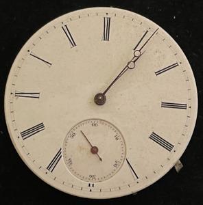 Vintage Unbranded 16s Pocket Watch Movement Ticks High Grade 43.16mm Swiss