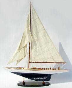 """Enterprise Sailboat Model 24"""" Handcrafted Wooden Model NEW"""