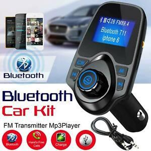 Bluetooth Car Kit FM Transmitter MP3 Player Dual USB Charger Wireless Radio AUX