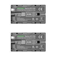 Neewer 2 Packs 7.4V 2600mAh NP-F550 Replacement Rechargeable Li-ion Battery Pack