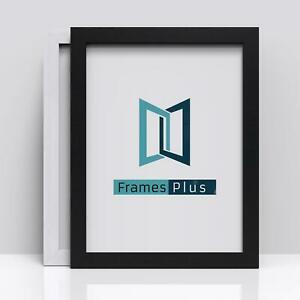 Black White Picture Photo Frame Flat Wooden Poster Frame A1 A2 A3 A4 A5 All Size