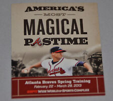 Atlanta Braves 2013 Spring Training Pocket Schedule (Disney World) Tim Hudson