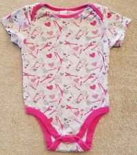 OLD NAVY 18-24 MONTH PINK GUITAR BODYSUIT ADORABLE