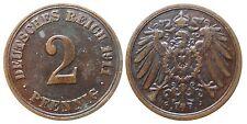 J 11   2 Pfennig Kaiserreich 1911 A in VZ  502864