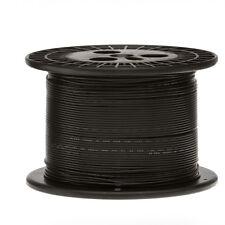 """22 AWG Gauge Stranded Hook Up Wire Black 1000 ft 0.0253"""" UL1007 300 Volts"""