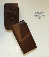 Quality Leather Belt Clip Pouch Holster Brown Case Cover For Blackberry Various
