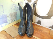 Laredo Black Leather Boots Women's 9M #46568 Made in USA