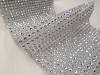 Bling Crystal Wedding Decorations Silver Diamond Quality Mesh Wrap Roll Sparkle
