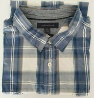 Tommy Hilfiger Check Plaid Button Down Short Sleeve Shirt / Size XXL