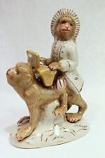"Beautiful Cute Porcelain Monkey Mozart Playing Piano On Monkey Figurine 9"""