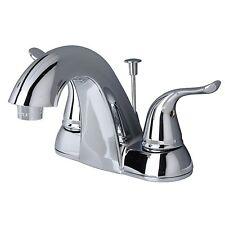 "Contemporary Bathroom Vanity Sink 4"" Centerset Lavatory Faucet Chrome"