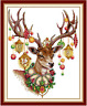 DMC Christmas Reindeer Cross Stitch Embroidery Kit Pattern Chart 14 Count PDF