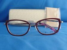 New Women's Helium Eyeglass Frame HE 4328 Burgundy/Gunmetal 53-17-135