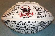 Nebraska Huskers 1989 Team Signed Full Size Facsimile Printed Football