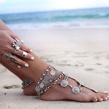Womens Summer Anklet Tassel Coin Ankle Bracelet Barefoot Sandals Gypsy/Boho Gift
