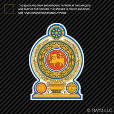 Sri Lankan Emblem Sticker Decal Self Adhesive Vinyl Sri Lanka flag LKA LK