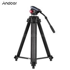 "Professional Heavy Duty 72"" Studio Video Camera Tripod Stand with Fluid Pan Head"