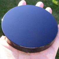 1PCS Black Obsidian Scrying Mirror Crystal Gemstone Mineral Specimens Home Decor