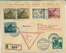 AVIATION : Postal History COVER - Liechtenstein 1933 - ZEPPELIN to CHICAGO