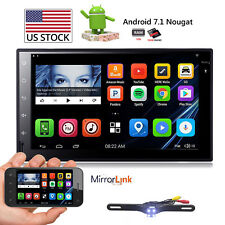 "7"" Android 7.1 Quad-Core Car Radio Stereo No DVD Player Head Unit GPS Navi USB"