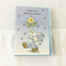 Lot of 12 Christmas Cards w/ Envelopes Snowman Winter Wish Blue Snow $42