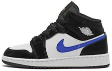 Air Jordan 1 Racer Blue Mid GS Black White 554725-084