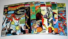 SPIDER-WOMAN EIGHT (8) COMICS   #21 AND #30    BRONZE AGE MARVELS