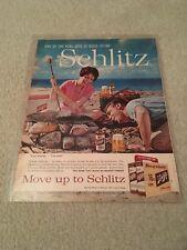 Original 1960 Schlitz Beer Ad