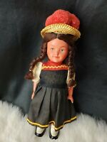 Vintage 7 inch Celluloid Doll Germany Painted Face