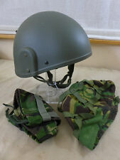 GB British Army Gefechtshelm Helmet Combat GS MK6 Helm Large + 2 Cover woodland