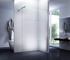 Luxus Duschabtrennung Walk-In Duschwand 120 x200cm Satiniert 10mm Mittelstreifen