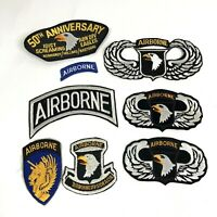 Lot Of Vintage Airborne Patches Screaming Eagles