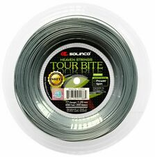 SOLINCO TOUR BITE SOFT TENNIS STRING 1.20MM 17G - 200M REEL - SILVER RRP £180