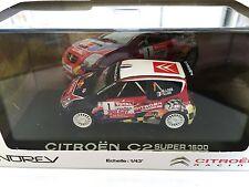 Citroën C2 Super 1600 Rallye du Var 2008 Loeb en BOITE NOREV 1/43 REF 155255
