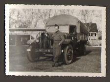 RASTATT ? PHOTO TROUPES FRANCAISES EN ALLEMAGNE CAMION TOA 1947 ?