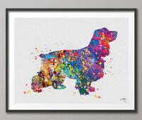 Cocker Spaniel Dog Watercolor Dog Print Cocker Wall Decor Art