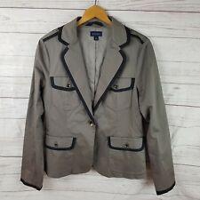 Witchery Blazer Jacket Size 14 Brown