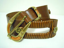 CULT VINTAGE '80 Cintura Donna Pelle Bohemian Woman Leather Belt Sz.S - M - L
