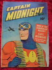 CAPTAIN MIDNIGHT #15 1943 CLASSIC WWII COVER!! FAWCETT GOLDEN AGE COMIC