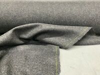 Perth Dark Charcoal Grey Heavy 100% Wool 140cm wide Curtain/ Upholstery Fabric
