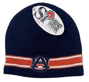 Auburn University Tigers Beanie NWT Blue AU Tiger Eyes Logo