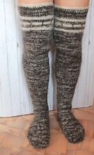 MEN's LEG WARMERS sheep wool KNEE SOCKS very thick very warm XXL 11 US