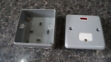 MK METAL CLAD PLUS 13A CONNECTION UNIT WITH NEON K983 ALM WITH BACK BOX