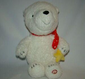 "Hallmark Little Wish Polar Bear 14"" Plush Talking Stuffed Animal"