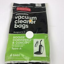 4 Rubbermaid Hoover Upright Vacuum Cleaner Bags.Type A